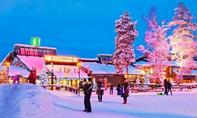 Rovaniemi Lapponia Babbo Natale.Rovaniemi A Casa Di Babbo Natale