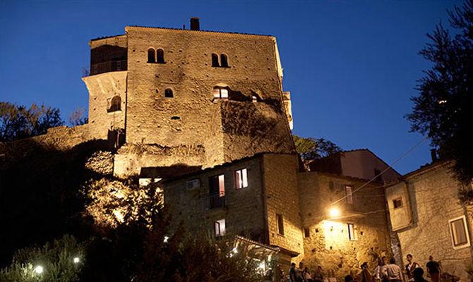 Borgo di Valsinni di notte<br>