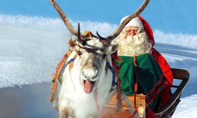Lapponia Casa Di Babbo Natale Video.Video La Partenza Di Babbo Natale In Lapponia