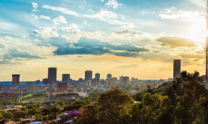 Panorama di Johannesburg