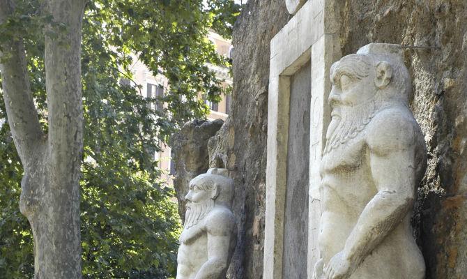 La porta magica, Piazza Vittorio Emanuele<br>