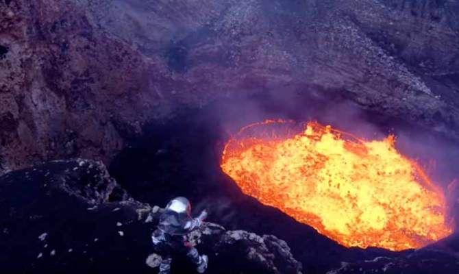 Vulcani Disegni: Video: Uomini E Droni Dentro Il Vulcano, Riprese Mai Fatte