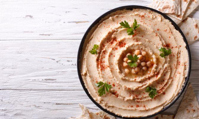 Ricetta Hummus Farina Di Ceci.Hummus Icona Araba A Base Di Ceci