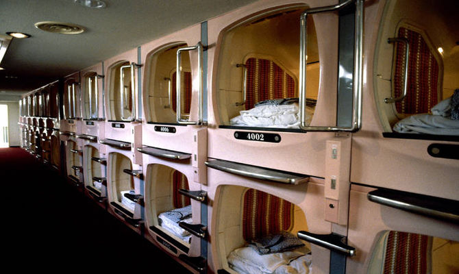 """Dal Giappone con furore: gli """"hotel capsula"""""""
